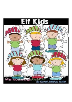 Elf Kids Clipart Collection