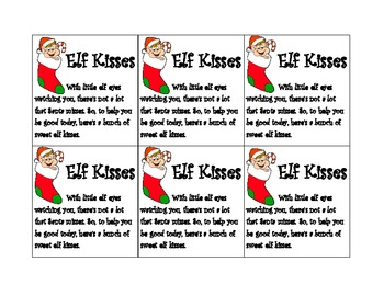 graphic regarding Elf Kisses Printable titled Elf Kisses Worksheets Coaching Supplies Lecturers Shell out