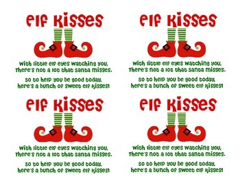 photograph relating to Elf Kisses Printable called Elf Kisses Printable Worksheets Instructors Pay out Lecturers