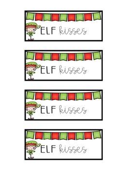 Elf Kisses - Treat Bag Labels FREEBIE