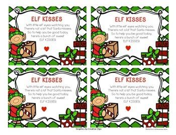 Elf Kisses Treat Topper