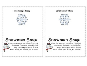 picture about Snowman Soup Printable Tag titled Snowman Soup Printable Label Worksheets Lecturers Fork out