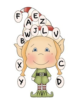 Elf Letter and Number Matching Set