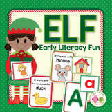 Elf Literacy Center Activities | Elf ABC, Rhyming, and Beginning Sound Activity