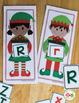 Elf Literacy Center Activities   Elf ABC, Rhyming, and Beginning Sound Activity
