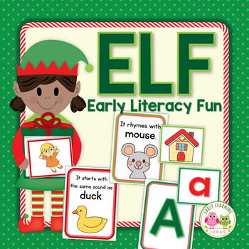 Elf ABC, Rhyming, and Beginning Sound Activity