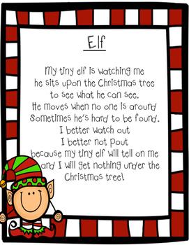 Elf Literacy Packet!