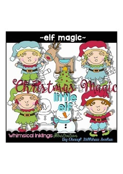 Elf Magic~ Cute Christmas Elves~ Clipart Collection