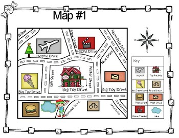 Elf Map Task Cards