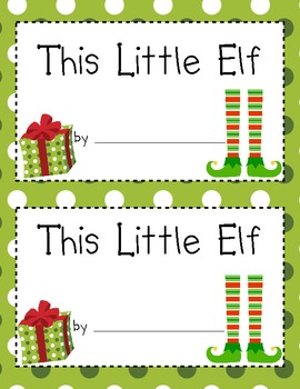 Elf Math and Literacy Unit