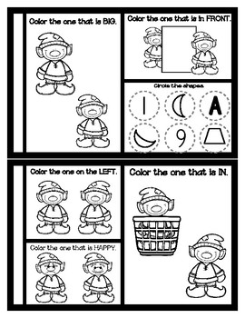 Elf - Mini Theme Concept & Tracing Book / Craftivity - Preschool - Christmas