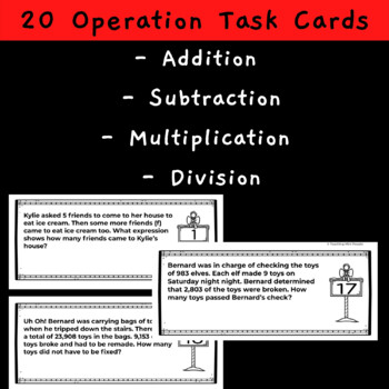 Basic Operations Math Review Task Cards