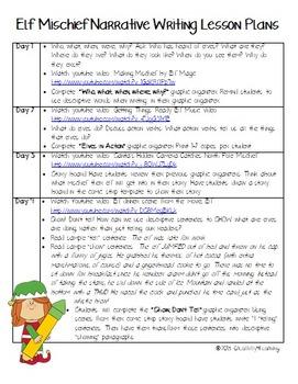 Elf Mischief Narrative Writing Unit
