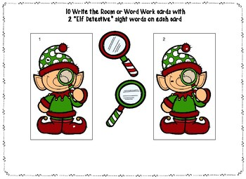 Elf Name Generator Writing Activity and Word Work/Write the Room Bundle