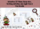 Elf Name Generator Writing Activity and Word Work/Write th