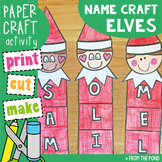 Elf Name and Word Craft Activity