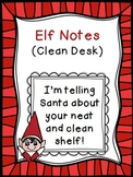 Classroom Elf Notes~ Clean Desk {Freebie}