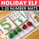 Elf Math Activities | Elf Number Mats 1-20 | Christmas Mat