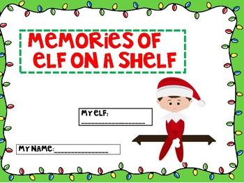 Elf On A Shelf writing Activity Journal