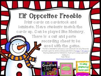 Elf Opposites Freebie