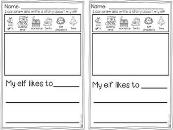 Elf Pages December Writing Activities