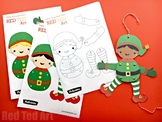 Elf Paper Puppet - BOYS  (Articulated Paper Puppets to print or colour)