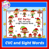 Santa's Workshop Elf Game ABC, CVC & HIGH FREQUENCY WORDS