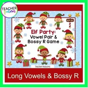 Elf Literacy Games: Vowel Teams & Bossy R