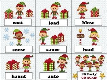 Santa's Workshop Elf Game VOWEL TEAMS & BOSSY R