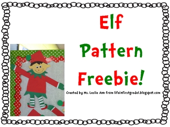 Modest image inside elf pattern printable