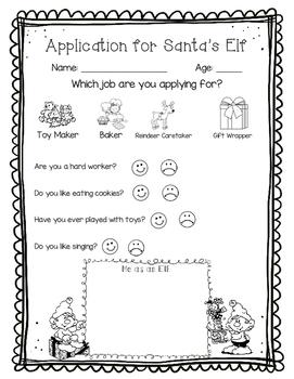 Elf Persuasive Writing (Elf Application)