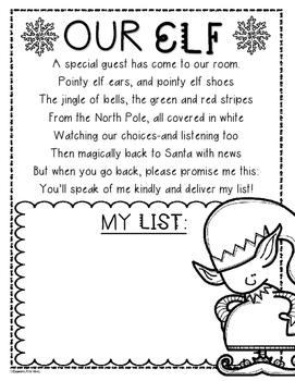 Elf Poem Wishlist Writing Activity