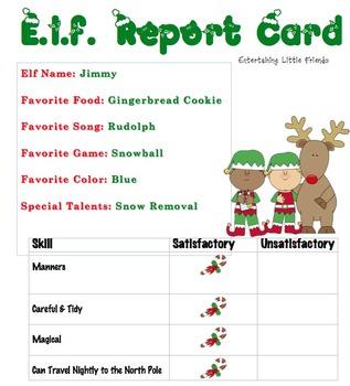 E.l.f. Report Card - Boy