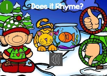 Elf Rhyming Power Point Game (with audio)