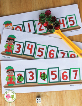 Elf Roll and Cover: Differentiated Math Activity for Preschool