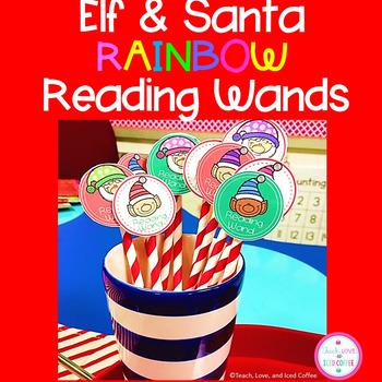 Elf & Santa Rainbow Reading Wands