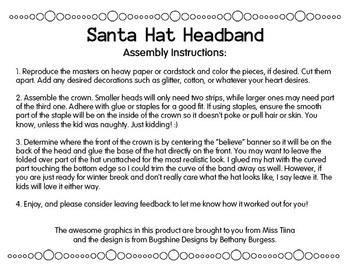 Elf, Santa, or Santa's Helper Hat Headband
