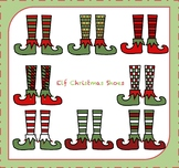 Elf Shoes Clipart / Elf Christmas Shoes Clipart {Christmas Clipart} {Color Set}