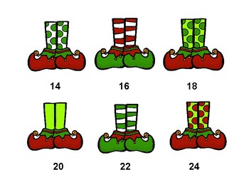 Elf Shoes Count By Twos Worksheets Printables Posters Coloring Pages
