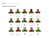 Elf Shoes Count By Twos - Worksheets, Printables, Posters,