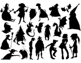 Elf Silhouette Clip Art Elfin Silhouette Black Fairy Halloween Silhouette