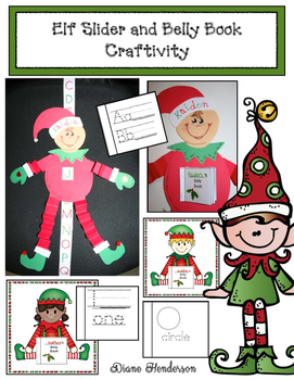 Elf Slider and Belly Book Craftivity