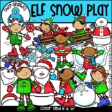 Elf Snow Play Clip Art Set - Chirp Graphics