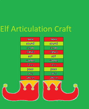 Elf Socks Articulation Craft-Speech Therapy