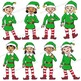 Elf Sol-fa Clip Art BUNDLE| Kodaly | Curwen Handsigns for Christmas