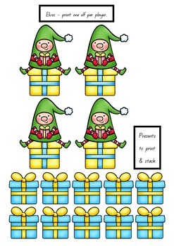 Elf Stack Christmas Sight Word Game