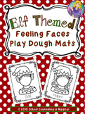 Elf Themed Feeling Faces Play Dough Mats