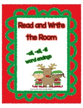 Elf Themed Read and Write the Room