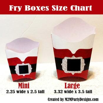 Elf Treat Box Large Fry Box