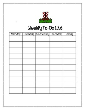 Elf Weekly To-Do List